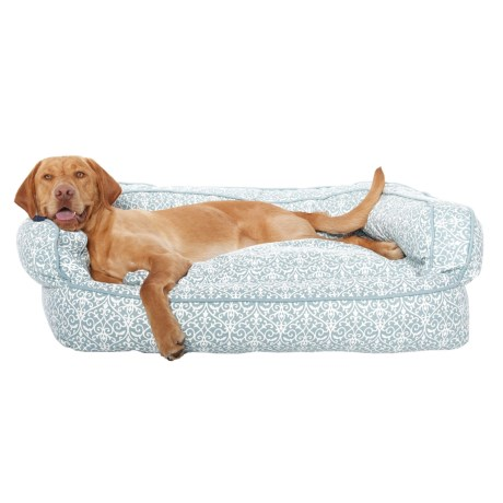 """Humane Society Iron Gate Bolster Dog Bed - 36x27"""" in Almost Grey"""