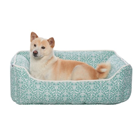 "Humane Society Iron Gate Lounger - 28x22"", Reversible in Green/Teal"