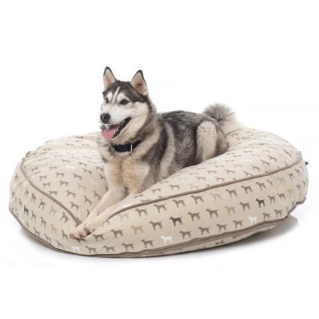 "Humane Society Mono Multi-Dog Jumbo Round Dog Bed - 48"" in Mushroom"