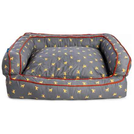 "Humane Society Polka Lab Extra-Large Dog Bed - 36x27x12"" in Grey - Closeouts"