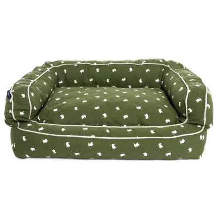 "Humane Society Polka Mallard Bolster Dog Bed - 36x27"" in Multi - Closeouts"