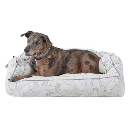 "Humane Society Sleeping Puppies Bolster Dog Bed - Extra Large, 36x27"" in Tan - Closeouts"