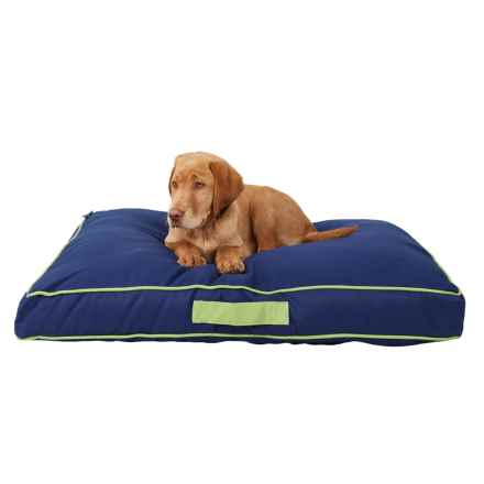 "Humane Society Solid Outdoor Rectangle Dog Bed - Large, 36x27"" in Medival Blue - Closeouts"