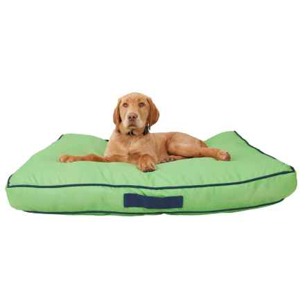 humane society solid outdoor rectangle dog bed large 36x27u201d in tendril closeouts - Dog Beds For Large Dogs