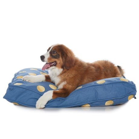 """Humane Society Tennis Balls Rectangle Bed - 27x36"""" in Blue"""