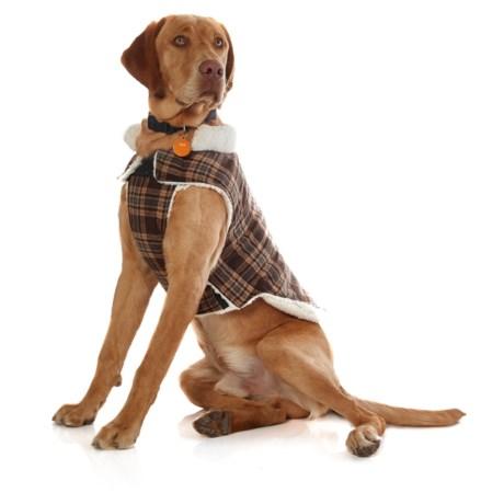 Humane Society Wyatt Dog Jacket - Wool Blend, Fleece in Brown