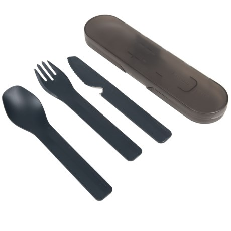 Humangear GoBites Trio Travel Utensils and Case in Gray