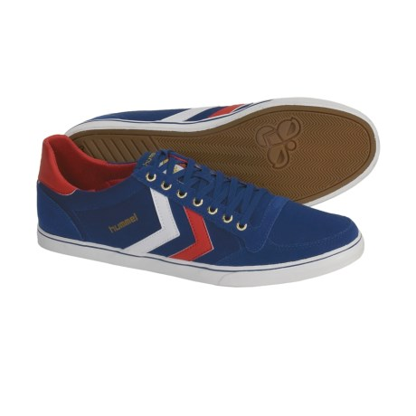 Hummel Stadil Low Top USA Shoes - Canvas, Sneakers (For Men) in Blue/White/Red