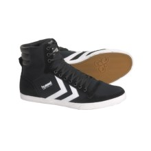 Hummel Stadil Slimmer Hi Top Shoes - Canvas, Sneakers (For Men) in Black/White - Closeouts