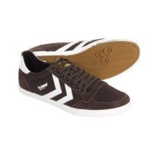 Hummel Stadil Slimmer Low Top Shoes - Canvas, Sneakers (For Men) in Coffee/White - Closeouts