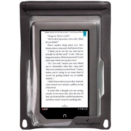 Hummingbird E-Reader Case - Waterproof, Medium in Grey