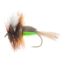 Humpy Dry Fly - Dozen in Fluorescent Green - Closeouts
