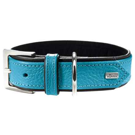 HUNTER Capri Dog Collar in Petrol/Black - Closeouts