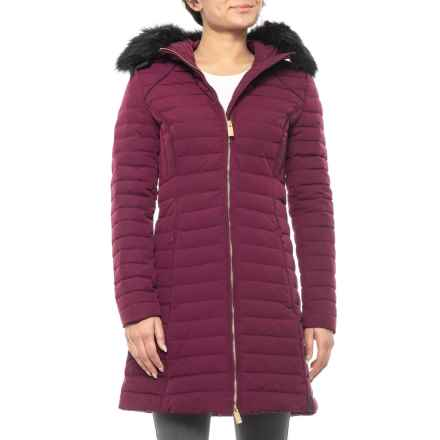 HUNTER Original Fitted Down Coat - Insulated, Removable Hood (For Women) in Martian Red - Closeouts