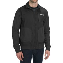 Hurley Altitude Track Fleece Jacket (For Men) in Black - Closeouts