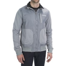 Hurley Altitude Track Fleece Jacket (For Men) in Concrete - Closeouts