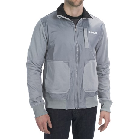 Hurley Altitude Track Fleece Jacket (For Men) in Concrete