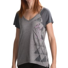 Hurley Big Fun T-Shirt - V-Neck, Short Sleeve (For Women) in Heather Grey - Closeouts