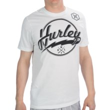 Hurley Bolter Script Premium T-Shirt - Cotton, Short Sleeve (For Men) in White - Closeouts