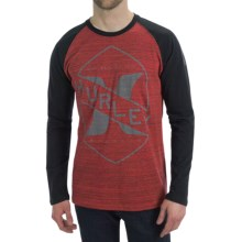 Hurley Breakaway Marble T-Shirt - Long Sleeve (For Men) in Red - Closeouts