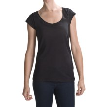 Hurley Cap Sleeve T-Shirt - Short Sleeve (For Women) in Black - Closeouts