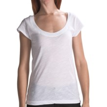 Hurley Cap Sleeve T-Shirt - Short Sleeve (For Women) in White - Closeouts