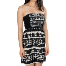 Hurley Crooks Sweetheart Dress - Strapless (For Women) in Black Ink - Closeouts