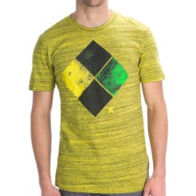 Hurley Diamonds Marble T-Shirt - Short Sleeve (For Men) in Satyel - Closeouts