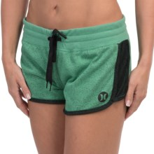 Hurley Dri-Fit Beachrider Shorts (For Women) in Heather Menta - Closeouts