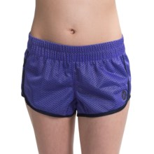 Hurley Dri-Fit Mesh Shorts (For Women) in Electric Purple - Closeouts