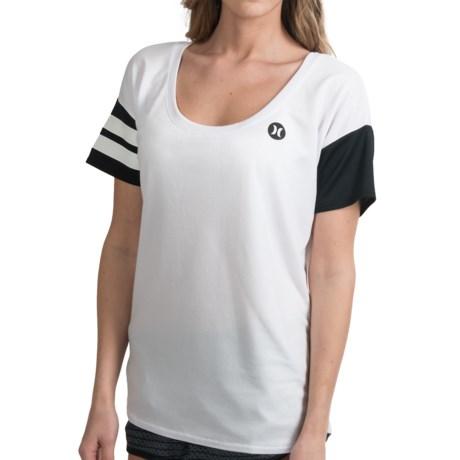 Hurley Dri-Fit T-Shirt - Scoop Neck, Short Sleeve (For Women) in White