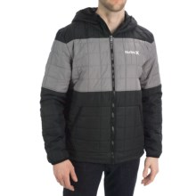 Hurley Edge Jacket - Insulated (For Men) in Black - Closeouts