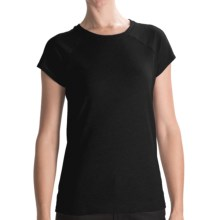 Hurley French Terry Fleece T-Shirt - Short Sleeve (For Women) in Black - Closeouts