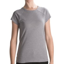 Hurley French Terry Fleece T-Shirt - Short Sleeve (For Women) in Heather Grey - Closeouts