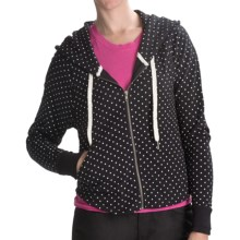 Hurley Freshman 15 Hoodie - Full Zip (For Women) in Black Poka Dot - Closeouts
