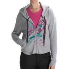Hurley Freshman 15 Hoodie - Full Zip (For Women) in Heather Grey - Closeouts