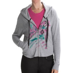 Hurley Freshman 15 Hoodie - Full Zip (For Women) in Heather Grey
