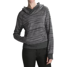 Hurley Getaway Striped Hoodie (For Women) in Black - Closeouts