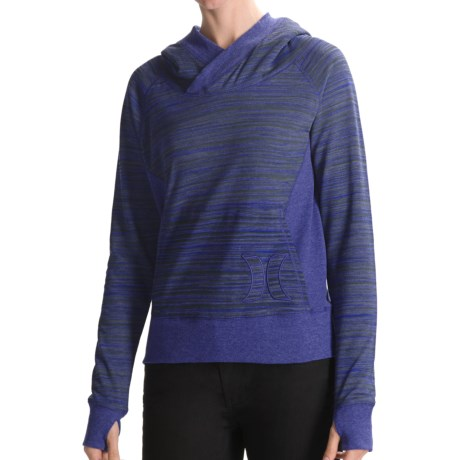 Hurley Getaway Striped Hoodie (For Women) in Kensington Blue