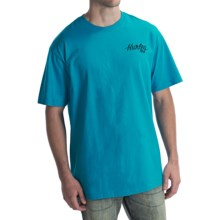 Hurley Go Surf Charlie T-Shirt - Short Sleeve (For Men) in Cyan - Closeouts