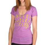 Hurley Gurley T-Shirt - V-Neck, Short Sleeve (For Women)