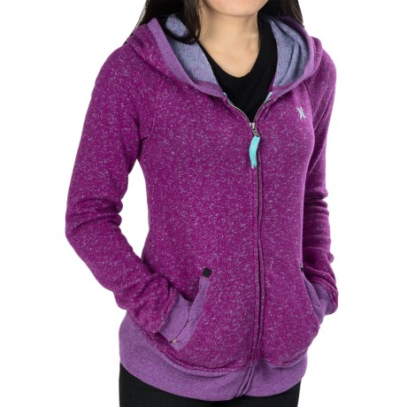 Hurley Homeroom Hoodie Sweatshirt - Fleece (For Women) in Heather Verve Purple
