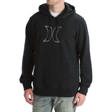 Hurley Icon Pullover Hoodie Sweatshirt (For Men) in Black - Closeouts