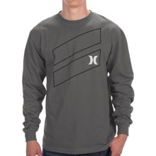 Hurley Icon Slash T-Shirt - Long Sleeve (For Men) in Grey - Closeouts