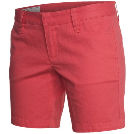 Hurley Lowrider Bermuda Shorts - Stretch Cotton Twill (For Women) in Swedish Red