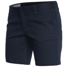 Hurley Lowrider Bermuda Shorts - Stretch Cotton Twill (For Women) in True Navy - Closeouts