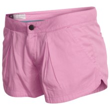 Hurley Lowrider Sunkissed Walkshorts - Cotton Twill (For Women) in Peony Pink - Closeouts