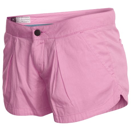 Hurley Lowrider Sunkissed Walkshorts - Cotton Twill (For Women) in Peony Pink