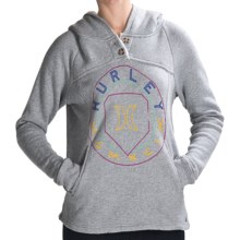 Hurley Nightfall Hoodie Sweatshirt - Sherpa-Lined Hood (For Women) in Heather Grey - Closeouts