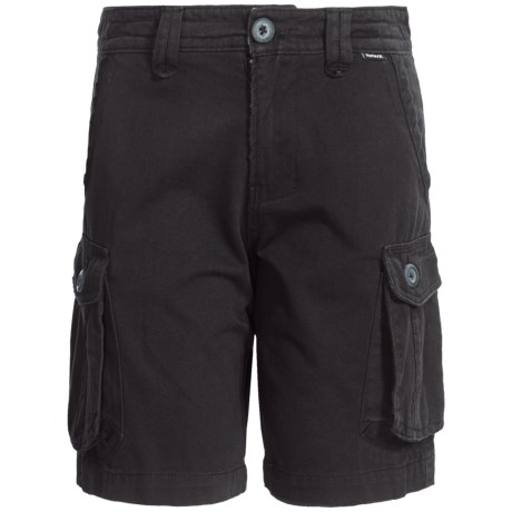 Hurley One and Only Cargo Shorts (For Boys) in Black